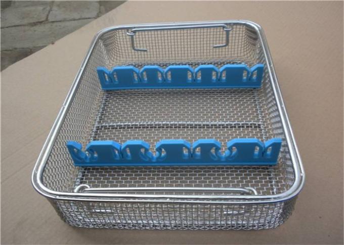 Perforated  Stainless Steel Wire Mesh Baskets For Medical Sterilization 50 - 120mm Width