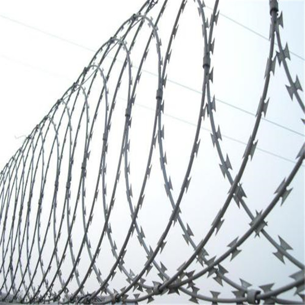 galvanized or stainless steel razor wire mesh/steel razor wire mesh/PVC coated barbed wire fencing/military protect razo