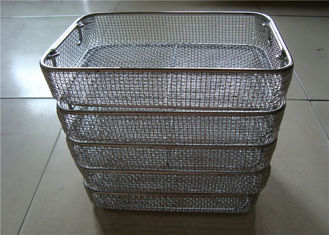 China Sterilisation DIN  Stainless Steel Wire Basket Tray For Medical Or Shopping supplier