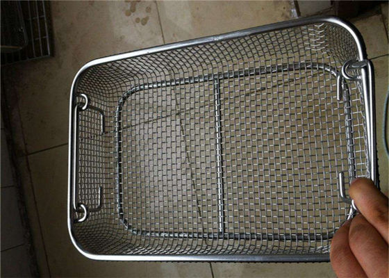 China Perforated  Stainless Steel Wire Mesh Baskets For Medical Sterilization 50 - 120mm Width factory