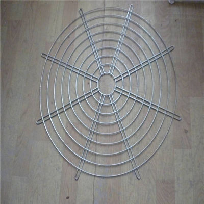 China Hanging Wire Mesh Baskets , 200mm Air Exhaust Black Wire Metal Fan Finger Guard factory