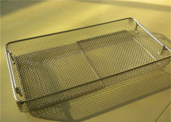 China Extra Large Stainless Steel Square Wire Metal Storage Baskets Perforated For Medical Treatment factory