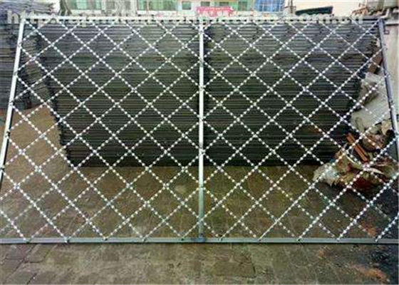 Razor Iron  Nato Security Barbed Wire , Low Carbon Chain Link Fence With Razor Wire