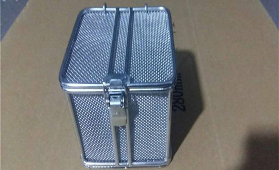 304 316 Stainless Wire Mesh Baskets  For Instruments Storage Or Washing SGS Approved
